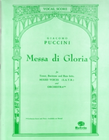 MESSA DI GLORIA VOCAL SCORE SATB, Paperback