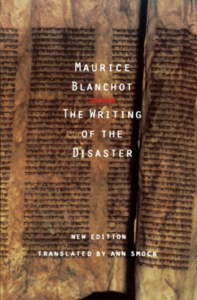 The Writing of the Disaster, Paperback