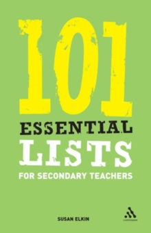 101 Essential Lists for Secondary Teachers, Paperback