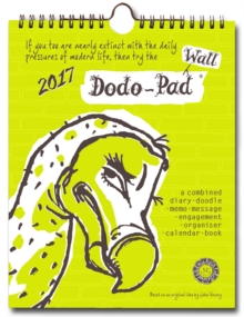 Dodo Wall Pad 2017 - Calendar Year Wall Hanging Week to View Calendar Organiser : A Family Diary-Doodle-Memo-Message-Engagement-Organiser with Room for Up to 5 People's Appointments/Activities, Calendar