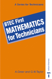 BTEC First - Mathematics for Technicians, Paperback