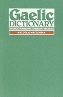 Gaelic Dictionary, Paperback Book