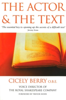 The Actor and the Text, Paperback Book