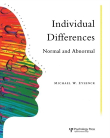 Individual Differences : Normal and Abnormal, Paperback Book