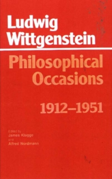 Philosophical Occasions, 1912-51, Paperback