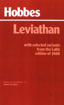 Leviathan : with Selected Variants from the Latin Edition of 1668 With Selected Variants from the Latin Edition of 1668, Paperback