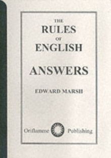 The Rules of English : Answers, Paperback