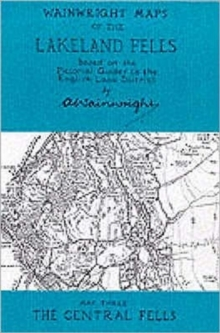 Wainwright Maps of the Lakeland Fells : The Central Fells Map 3, Sheet map, folded Book