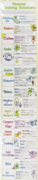 Natural Cleaning Solutions Chart, Wallchart