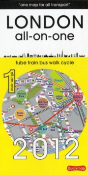 London All-on-One: Tubes, Buses, Trains, Walking and Cycling, Sheet map, folded