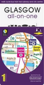 Glasgow All-On-One Map : Walk Cycle Bus Train Taxi Subway and City Centre, Sheet map, folded