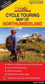 Cycle Touring Map of Northumberland - Official, Sheet map, folded