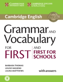 Grammar and Vocabulary for First and First for Schools Book with Answers and Audio, Mixed media product