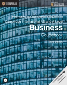 Cambridge International AS and A Level Business Coursebook with CD-ROM, Mixed media product Book
