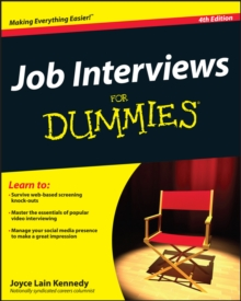 Job Interviews For Dummies, Paperback Book