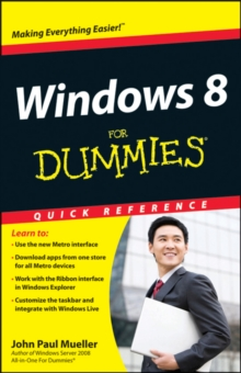 Windows 8 For Dummies Quick Reference, Paperback