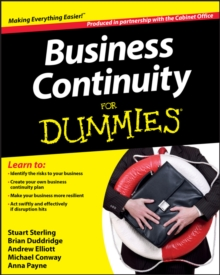 Business Continuity For Dummies, Paperback Book