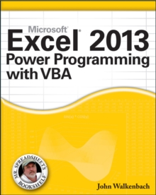 Excel 2013 Power Programming with VBA, Paperback