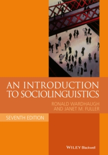 An Introduction to Sociolinguistics, Paperback Book