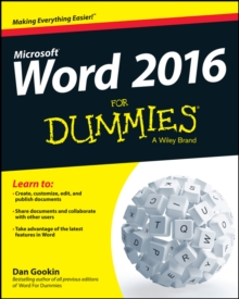 Word 2016 For Dummies, Paperback