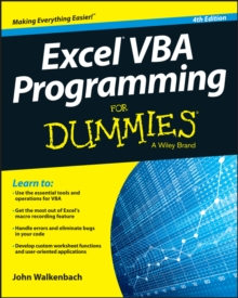 Excel VBA Programming For Dummies, Paperback Book