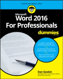 Word 2016 for Professionals For Dummies, Paperback