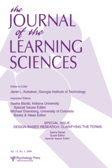 Image of Design-based Research : Clarifying the Terms. A Special Issue of the Journal of the Learning Sciences