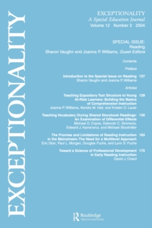 Image of Reading : A Special Issue of Exceptionality