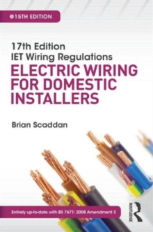 17th Edition IET Wiring Regulations: Electric Wiring for Domestic Installers, Paperback
