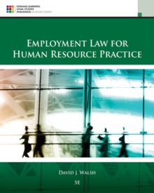 Employment Law for Human Resource Practice, Hardback Book