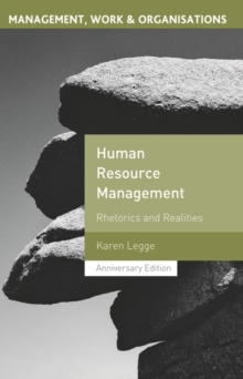 Human Resource Management : Rhetorics and Realities, Paperback