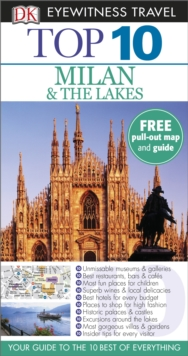 DK Eyewitness Top 10 Travel Guide: Milan & the Lakes, Paperback