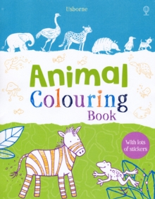 Animal Colouring Book with Stickers, Paperback
