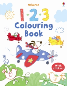 123 Colouring Book with Stickers, Paperback