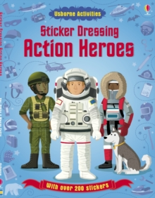 Sticker Dressing Action Heroes, Paperback