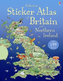 Usborne Sticker Atlas of Britain and Northern Ireland, Paperback