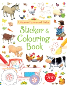 Farmyard Tales Sticker and Colouring Book, Paperback