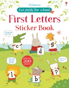 First Letters Sticker Book, Paperback Book
