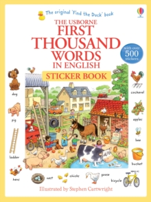 First Thousand Words in English Sticker Book, Paperback