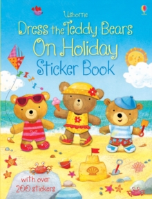 Dress the Teddy Bears on Holiday Sticker Book, Paperback