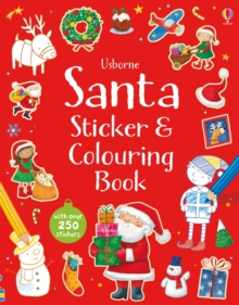 Santa Sticker and Colouring Book, Paperback
