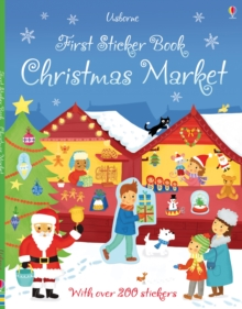 First Sticker Book Christmas Market, Paperback