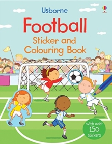 Football Sticker and Colouring Book, Paperback