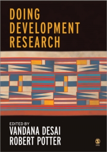 Doing Development Research, Paperback Book