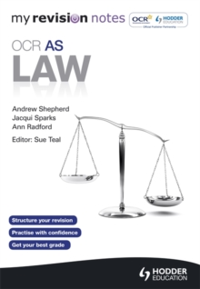 My Revision Notes: OCR AS Law, Paperback