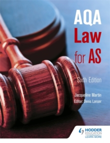 AQA Law for AS, Paperback