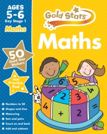 Gold Stars Maths Ages 5-6 Key Stage 1, Mixed media product Book