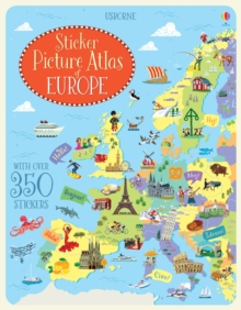 Sticker Picture Atlas of Europe, Paperback Book