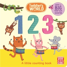 123 : A Little Counting Board Book with a Fold-Out Surprise, Board book