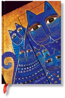 FELINES MEDITERRANEAN CATS MIDI JOURNAL, Hardback Book
